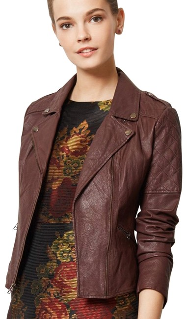 Item - Oxblood Quilted Moto Jacket Size 12 (L)