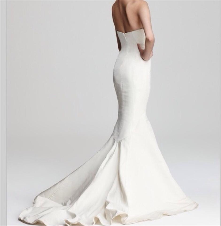 441827d35cbc Nicole Miller Off White Silk Dakota Feminine Wedding Dress Size 2 (XS)  Image 0 ...