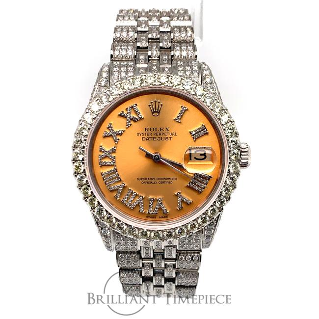 Item - Orange Roman Men's Datejust 36mm Dial Stainless Steel 13ct Watch
