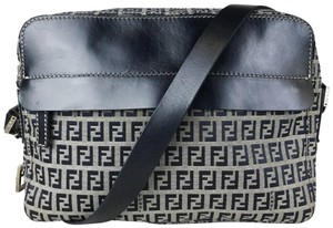 Fendi Navy Zucchino Crossbody Shoulder Bag
