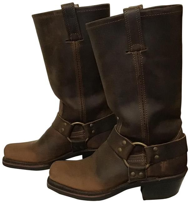 Item - Brown Leather Harness Boots/Booties Size US 5.5 Regular (M, B)