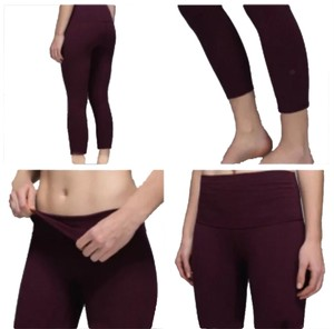 Lululemon Wunder Under Crop Cotton Roll Down