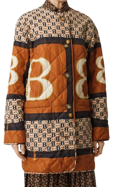 Item - Clay Sienna Women Archive Scarf Print Diamond Quilted Coat Jacket Size 0 (XS)