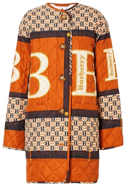 Item - Clay Sienna Archive Scarf Print Diamond Quilted Coat Jacket Size 0 (XS)