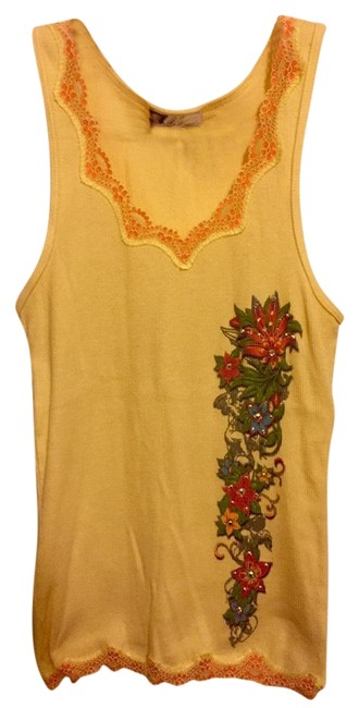 Item - Yellow Multi Bling Tank Top/Cami Size 12 (L)