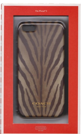 Coach Coach Madison Zebra Animal Print Case Cover iPhone 5/5S