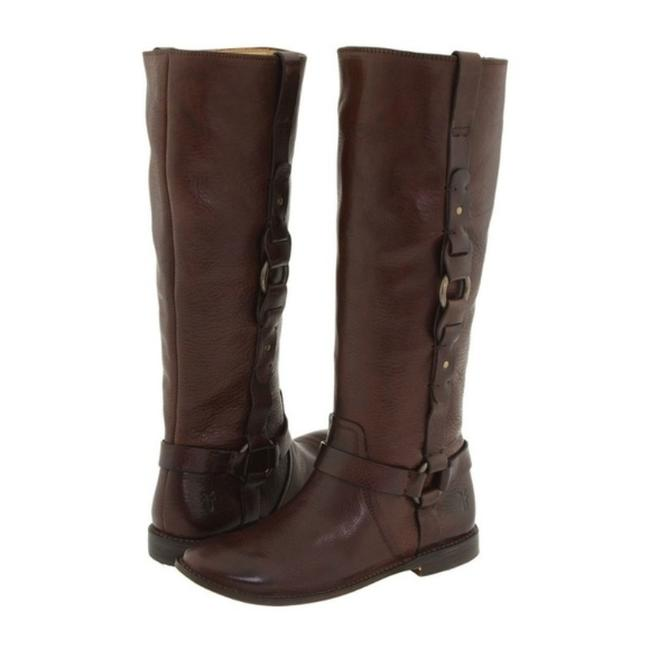 Item - Brown Paige Loop Pull On Harness Riding Equestrian Boots/Booties Size US 5.5 Regular (M, B)