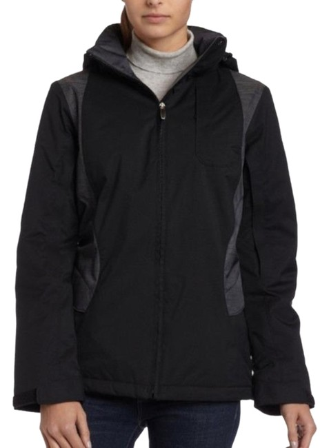 Item - Black Gray Apres Alley Waterproof Hooded Parka Seam Sealed Vented Coat Size 8 (M)