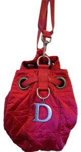 Dior Christian Handbag Christian Handbag Nylon Nylon Drawstring Christian Signature Antique