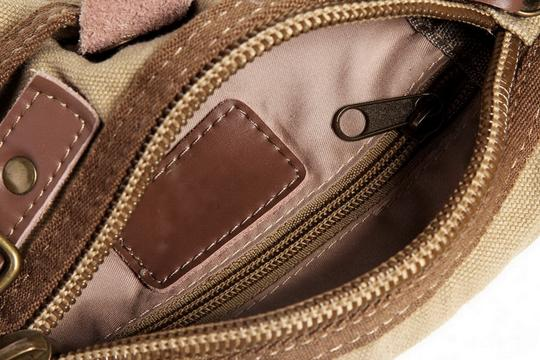 Vagarant Vintage Canvas Leather Casual Exclusive Cross Body Bag Image 2