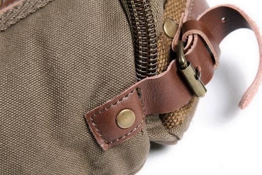 Vagarant Vintage Canvas Leather Casual Exclusive Cross Body Bag Image 3