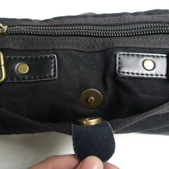 Vagarant Vintage Canvas Leather Casual Exclusive Cross Body Bag Image 5