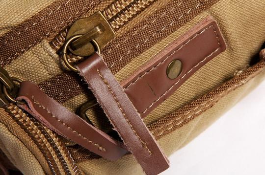 Vagarant Vintage Canvas Leather Casual Exclusive Cross Body Bag Image 6