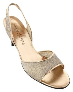 YSL metallic gold Formal