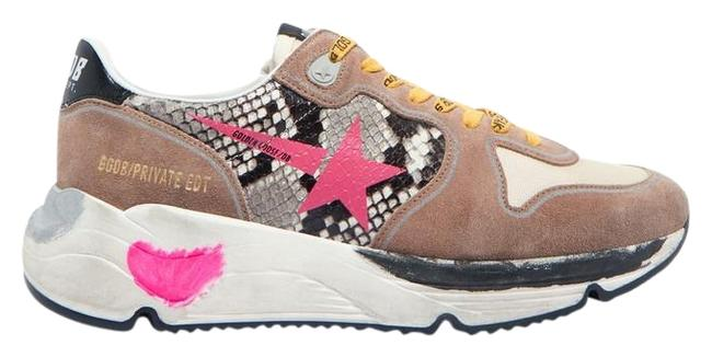 Item - Multicolor Running Sole Distressed Glittered Leather Suede and Mesh Sneakers Size EU 37 (Approx. US 7) Regular (M, B)