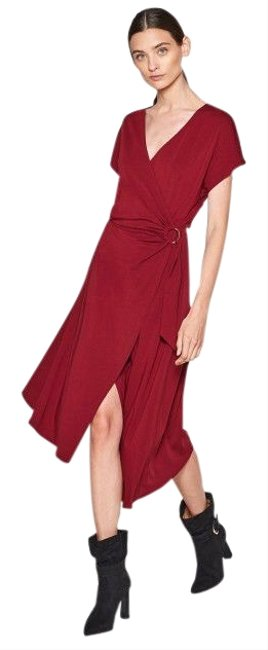 Item - Red Anjula Faux Mid-length Casual Maxi Dress Size 0 (XS)