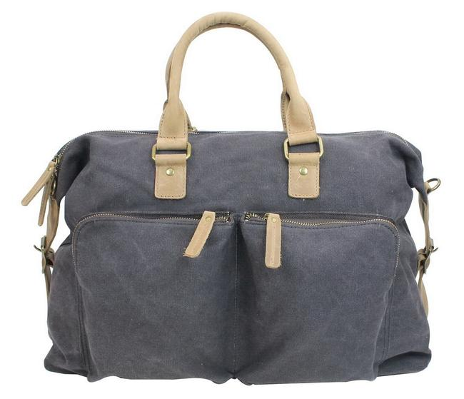 Item - Classic Over Night Cd02 Grey Canvas Weekend/Travel Bag