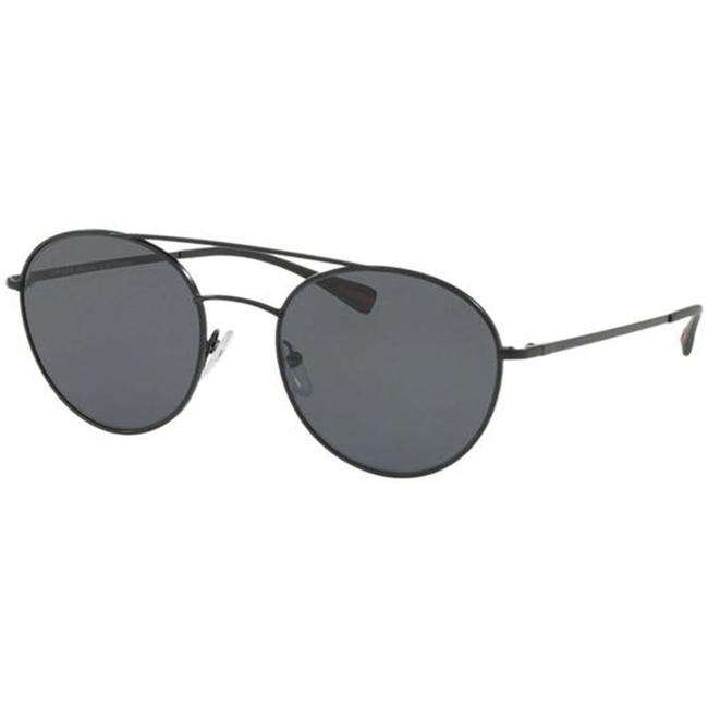 Item - Black Frame & Grey Polarized Lens Ps51ss 1bo5z1 Unisex Round Sunglasses
