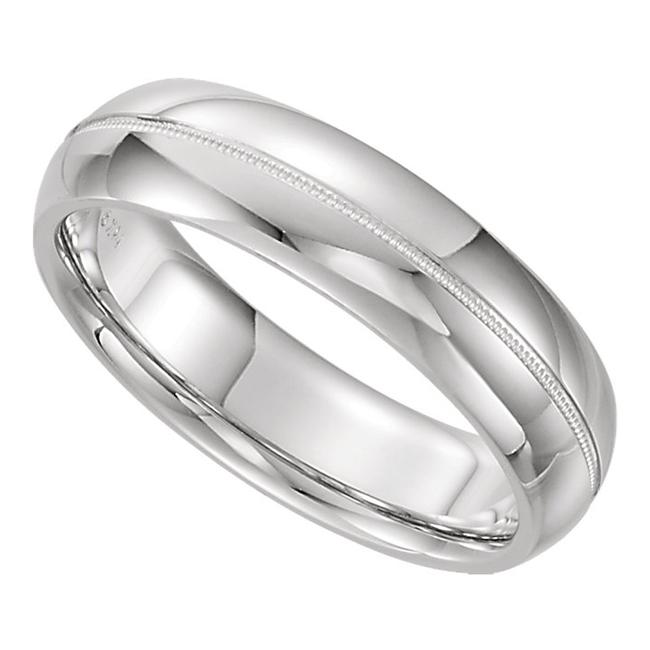 SB Diamond White 14 Kt Gold Milgrain Men's Wedding Band SB Diamond White 14 Kt Gold Milgrain Men's Wedding Band Image 1