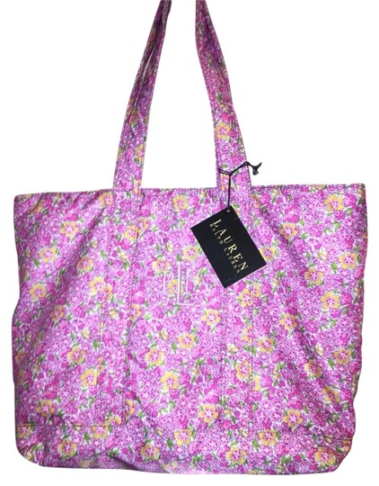 Preload https://img-static.tradesy.com/item/2668885/ralph-lauren-floral-pink-cotton-tote-0-0-540-540.jpg