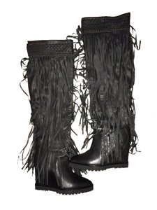 Ivy Kirzhner Leather Black Boots