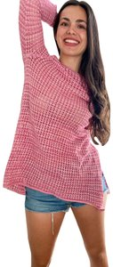 Jeanne Pierre 3/4 Sleeve See-through Knit Sweater