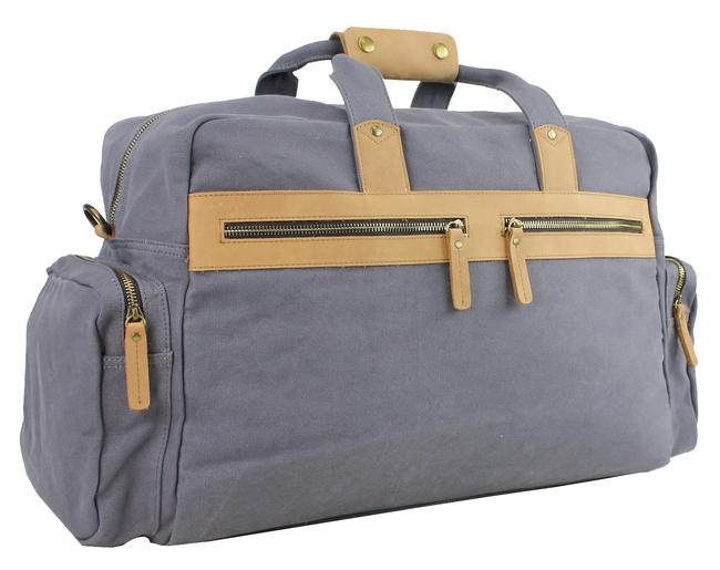 Item - Duffle Classic Large Cd04 Blue Grey Canvas Weekend/Travel Bag