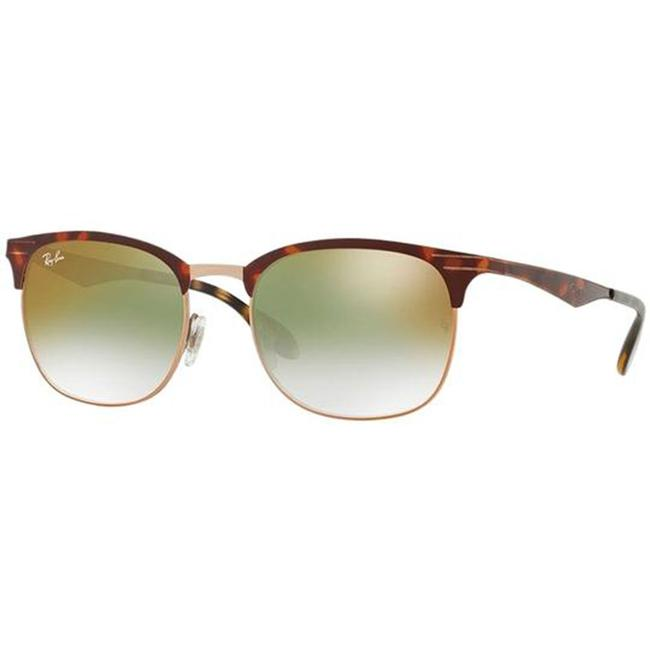 Ray-Ban Copper Havana Frame & Green Mirrored/Gradient Lens Rb3538 9074w0 Unisex Square Sunglasses Ray-Ban Copper Havana Frame & Green Mirrored/Gradient Lens Rb3538 9074w0 Unisex Square Sunglasses Image 1