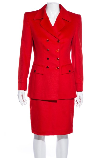 Item - Red Vintage Skirt Suit Size 4 (S)