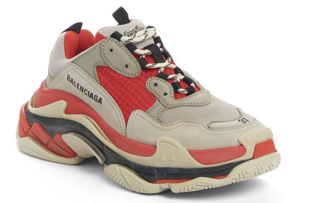 Item - Red/Grey/White Triple S Sneakers Size EU 38 (Approx. US 8) Regular (M, B)