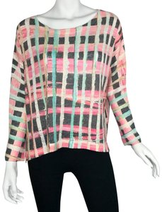 Nally & Millie Oversized Dropped Shoulder Colorful Abstract Tunic