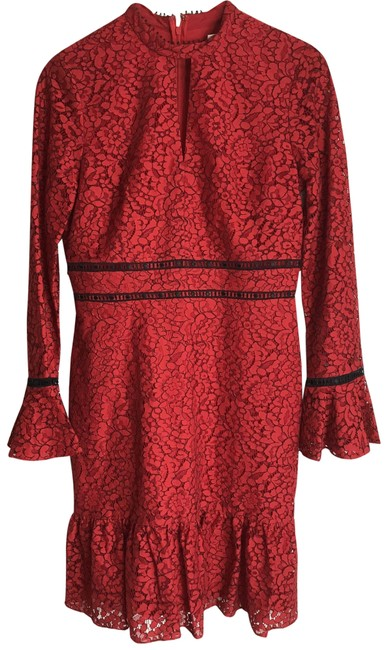 Item - Red Women's Contemporary Short Casual Maxi Dress Size 6 (S)