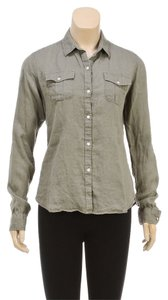 Paige Premium Denim Button Down Shirt Green