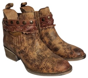 Corral Boots Leather Ankle Strap Brown Boots