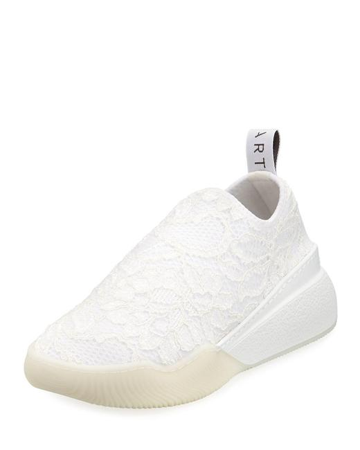 Item - White Loop Logo-woven Corded Lace Slip-on Sneakers Size EU 39 (Approx. US 9) Regular (M, B)