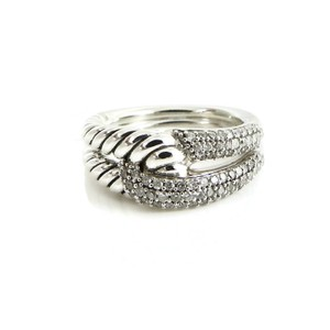David Yurman David Yurman Sterling Silver .44tcw Pave Diamond Labyrinth Ring