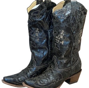 Corral Leather Black Boots