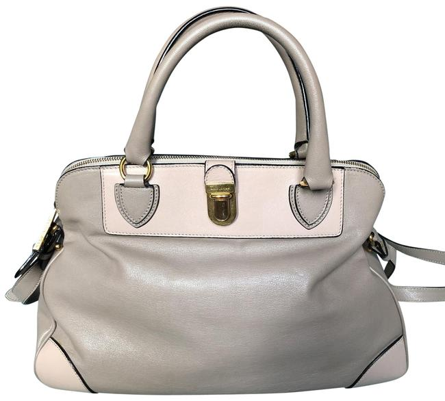 Item - Gray and Taupe Leather Satchel