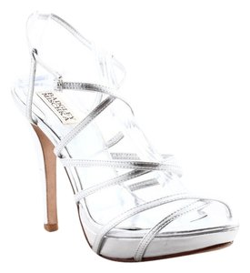 Badgley Mischka metallic silver Formal