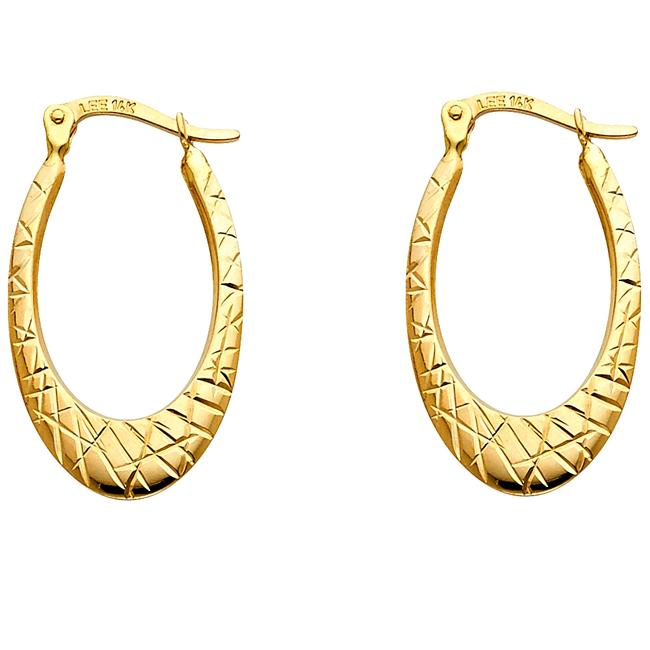 Top Gold & Diamond Jewelry Yellow 14k 1.7mm Cut For Women Earrings Top Gold & Diamond Jewelry Yellow 14k 1.7mm Cut For Women Earrings Image 1