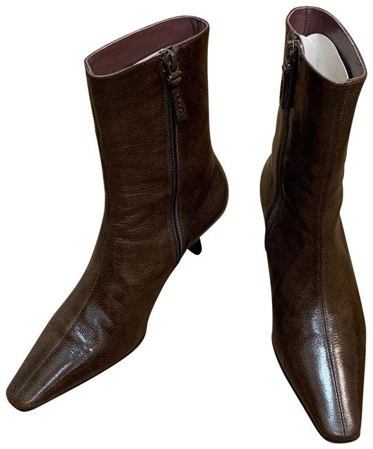 Item - Brown Leather Boots/Booties Size EU 36.5 (Approx. US 6.5) Regular (M, B)