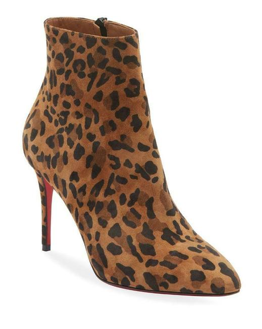 Item - Caramel Eloise 85 Leopard Suede Ankle Heels Boots/Booties Size EU 35 (Approx. US 5) Regular (M, B)