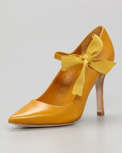 Tory Burch Golden Yellow Pumps