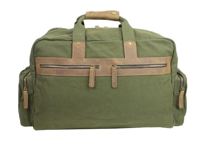 Item - Duffle Classic Large Cd04 Green Canvas Weekend/Travel Bag