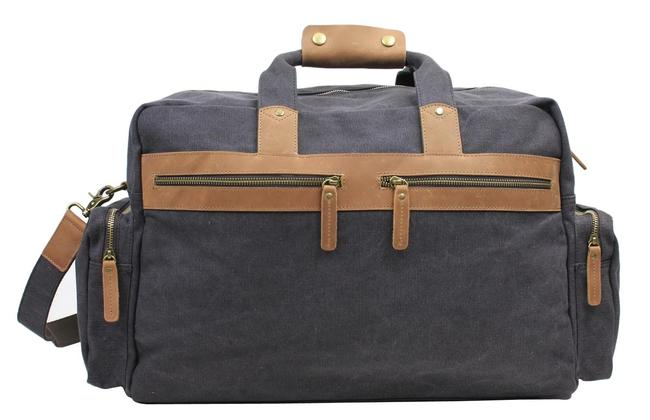 Item - Duffle Classic Large Cd04 Grey Canvas Weekend/Travel Bag