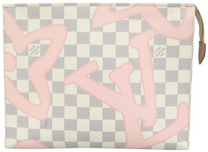 Louis Vuitton White Toiletry Tahitienne Pouch Damier Azur Canvas 26 Cosmetic Bag