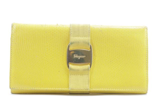 Item - Yellow Lizard Long Flap Bifold 11fk0113 Wallet