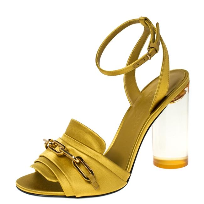 Burberry Yellow Satin Coleford Ankle Strap 36.5 Sandals Size US 6 Regular (M, B) Burberry Yellow Satin Coleford Ankle Strap 36.5 Sandals Size US 6 Regular (M, B) Image 1