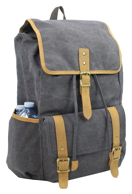 Item - Classic Large Ck12 Grey Canvas Backpack