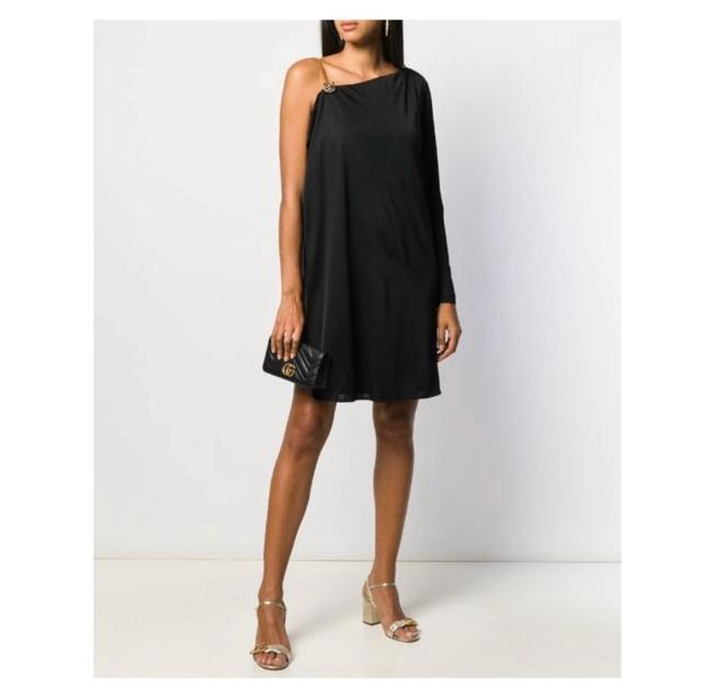 Item - Asymmetric Sleeves Flare Cocktail Dress Size 8 (M)